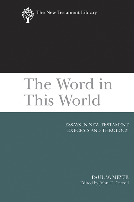 essays on new testament themes Gospel topics essays recognizing that today so much information about the church of jesus christ of latter-day saints can be obtained from questionable and often inaccurate sources, officials of the church began in 2013 to publish straightforward, in-depth essays on a number of topics.