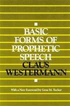 Basic Forms of Prophetic Speech