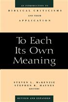 To Each Its Own Meaning, Revised and Expanded