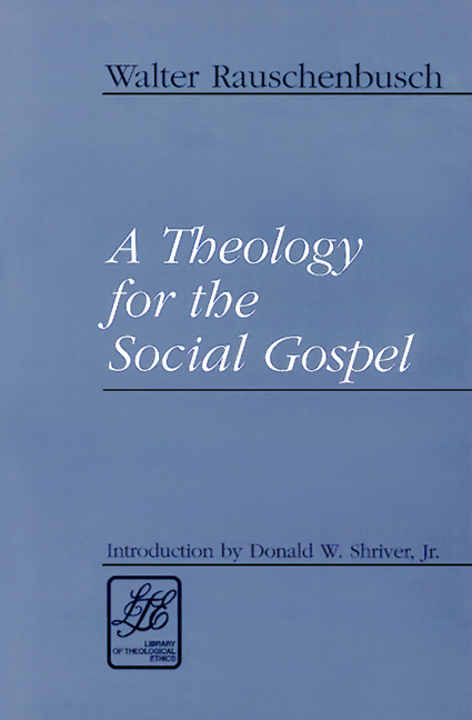 theology for the social gospel a A theology for the social gospel [walter rauschenbusch] is 20% off every day at  wipfandstockcom four lectures delivered in 1917 to the.
